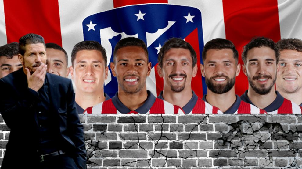 La defensa del Atlético: un muro sólido, pero pendiente de apuntalar