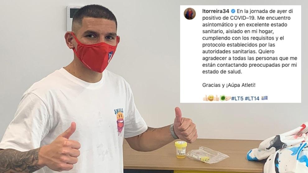 """Torreira: """"Me encuentro asintomático y en excelente estado sanitario. Gracias y ¡Aúpa Atleti!"""""""